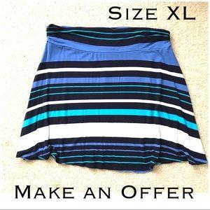 🔴Stretchy Striped Skirt 🔴Make an OFFER✅